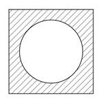 正方形丸穴