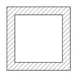 正方形中空