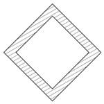 正方形中空45°
